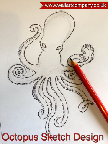 Octopus sketch design