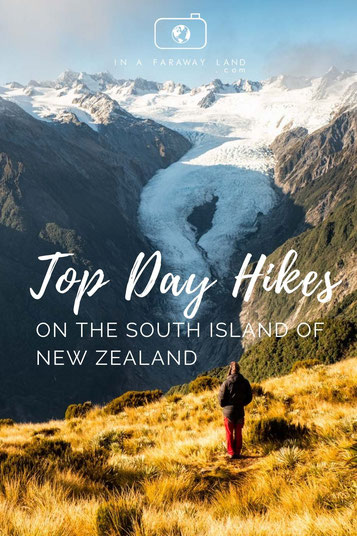 A list of the best day hikes on the South Island in New Zealand including information about the trails.