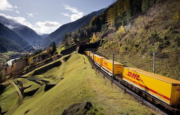 On way to Istanbul – DHL freight train  -  courtesy DP