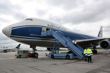 AirBridgeCargo is one of the all-cargo carriers serving MUC  /  source: hs