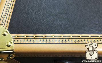 imprimer du cuir pour fabrique sa propre malle astuce, coffre de rangement