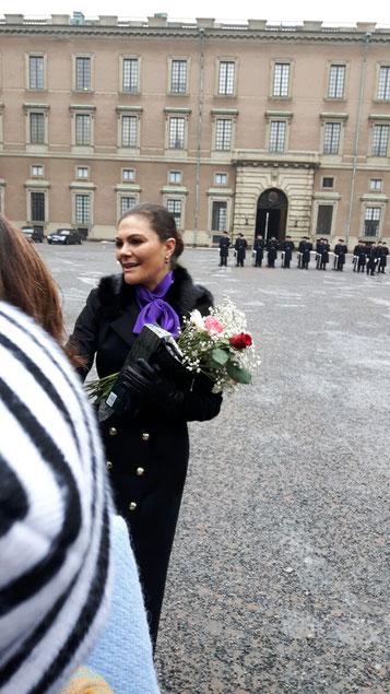 Kronprinzessin Victoria bei der Feier ihres Namenstags am 12.März in Stockholm