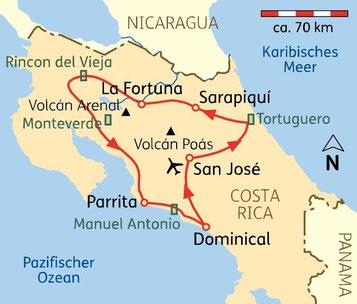 Kleingruppenreise Costa Rica Natururlaub & Rundreise in kleiner Gruppe mit Flug