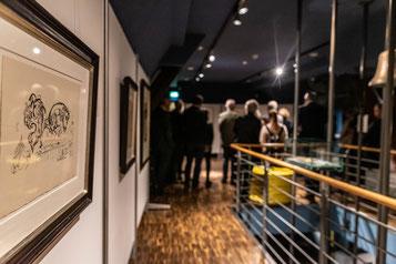Ein Chagall-Werk in einer Ausstellung.