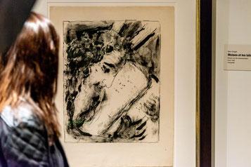Ein Chagall-Bild in einer Ausstellung.