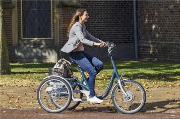 e-Trikes mit Elektromotor für Einkäufe, Spazierfahrten und Ausflüge für Erwachsene, Behinderte und Senioren