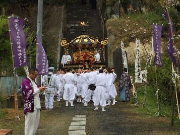 平成29年4月16日(日):日吉山王神社春の例大祭神輿渡御