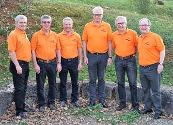 Der neue Vorstand mit Marcel Freiermuth Toni Hochreuter Daniel Fürst Markus Amsler Peter Lautenschlager Joachim Köhn (von links nach rechts)
