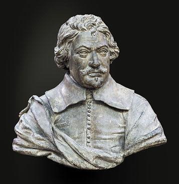 Buste de Peire Godolin (Pierre Goudouli) poète occitan. Musée des Augustins à Toulouse