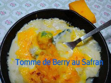 Tomme de Berry au Safran