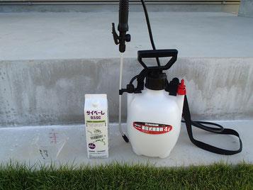 殺虫に必要な道具セット 計量カップ 噴霧器 サイベーレ本体