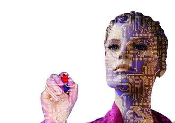 Roboter-Frau