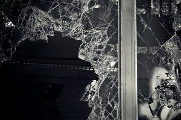zerbrochenes glass