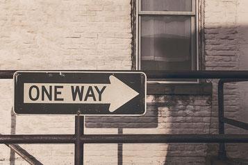 One-Way-Schild