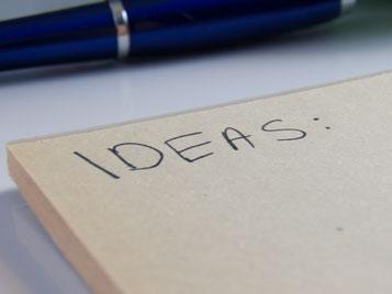 Notizblock zur Ideensammlung