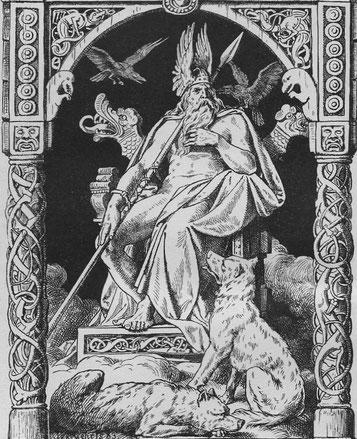 Wolf mythologie mythos wölfe geschichte kultur kulturen mensch menschen magie germanien germanische geri freki odin nordische