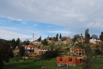 Village en Turquie, voyage à vélo, bike touring