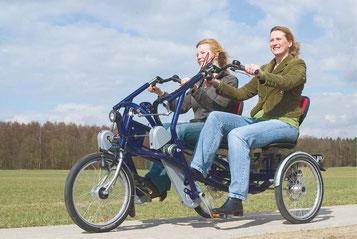 Van Raam Fun2Go Tandem-Dreirad Elektro-Dreirad Beratung, Probefahrt und kaufen in Heidelberg