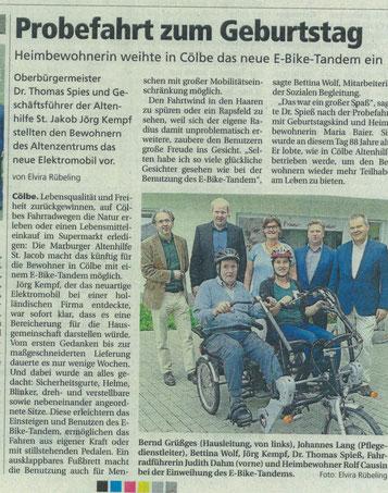 Marburger Altenhilfe St. Jakob  jetzt mit Fun2Go unterwegs