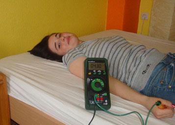 Durchführung einer Körperspannungsmessung
