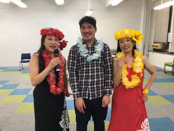 ハワイに初めて行ったツアー客のように嬉しそうなつる太郎さん こばじゅんさん(左の方)ありがとうございました!