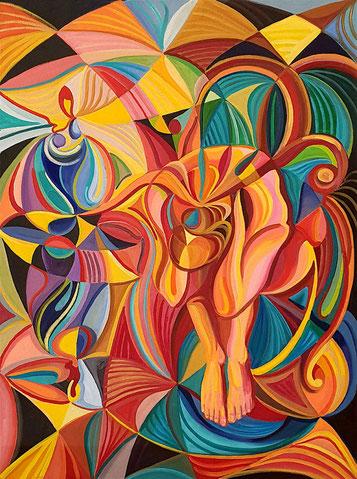 INCERTIDUMBRE (MADRID). Oleo sobre lienzo. 130 x 97 x 3,5 cm.