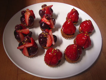 3つの赤い果実のトルテ