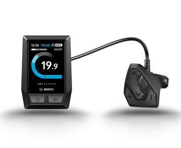 Das Bosch Kiox Display ist für sportliche Fahrten mit dem e-Bike geeignet.