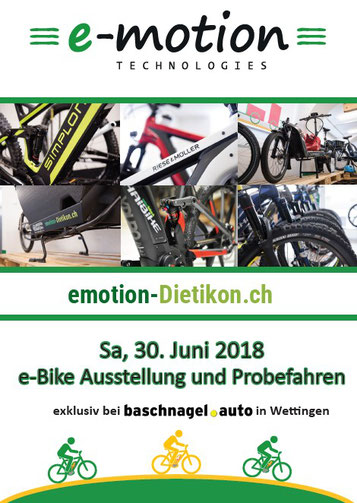 e-Bike Ausstellung und Probefahren