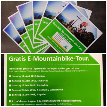 Gratis E-Mountainbike-Tour