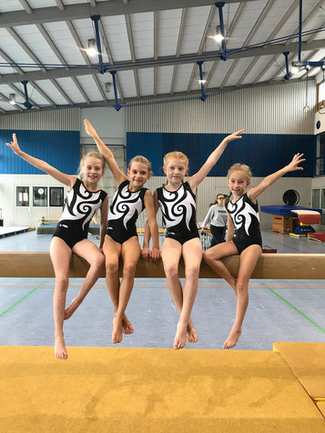 D1 Mannschaft: v.l: Mara Stolz, Alina Klammer, Vivien Wagner und Lisa Ehinger