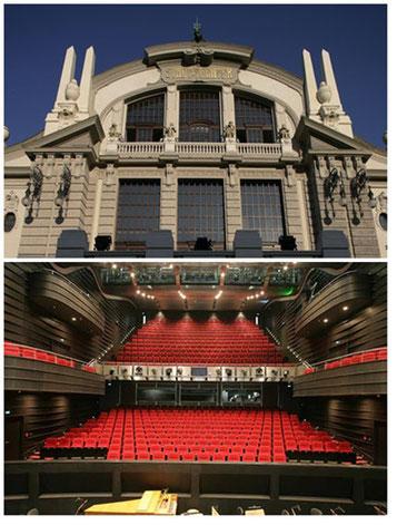 Außenansicht und Zuschauerraum / ©Theater Bielefeld