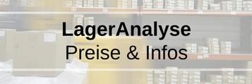 Lageranalyse Preise, Infos: Erkennen von Problemen und Lösungen, Fehlmengen & optimaler Bestand, überflüssige Bestände! Zeigt auf, wo die schnellsten und größten Verbesserungen umzusetzen sind.