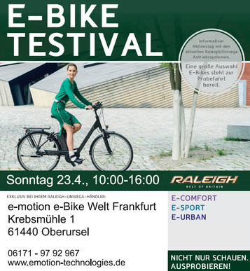 e-Bike Testival in der e-motion e-Bike Welt Frankfurt