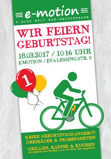Die e-motion e-Bike Welt Bad Zwischenahn feiert Geburtstag