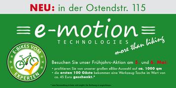 Frühjahrs-Aktion in der e-motion e-Bike Welt Nürnberg Ost
