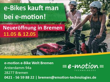Die e-motion e-Bike Welt Bremen feiert Neueröffnung