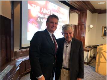 Marc Rotenberg and Governor Michael Dukakis, Harvard Faculty Club, 2019