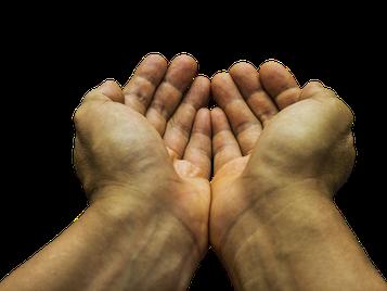 zwei offene Hände
