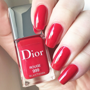 swatch Dior Rouge 999 by LackTraviata