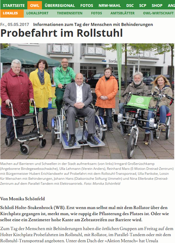 Dreirad Zentrum Bielefeld präsentiert neue Form der Mobilität