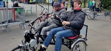 Tag des offenen Piers mit dem Dreirad Zentrum Frankfurt
