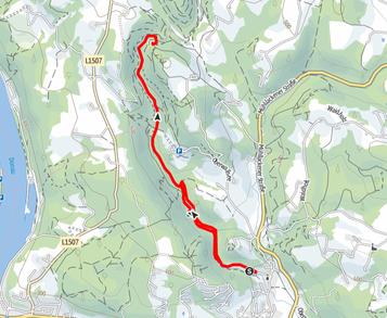 Route durch das Pesenbachtal auf den Kerzenstein