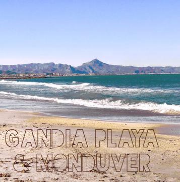 Strand und Berge, Gandia Playa und der Monduver,  März 2018