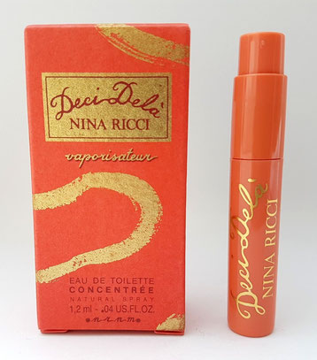 DECI DELA - ECHANTILLON TUBE SPRAY EAU DE TOILETTE CONCENTREE 1,2 ML