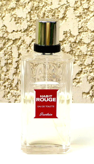 GUERLAIN - HABIT ROUGE, EAU DE TOILETTE 100 ML - ETIQUETTE ROUGE DIFFERENTE DES AUTRES
