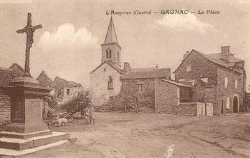 La place du village de Gagnac autrefois
