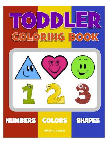 Toddler Coloring Book - Flight activities 18 to 24 months