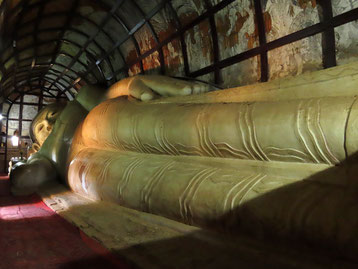 liegender Buddha in der Shwesandaw Pagode