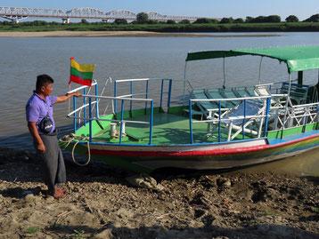 Bootsfahrt auf dem Ayeyearwady